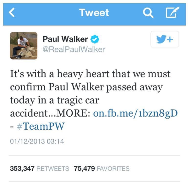 Paul Walker Twitter