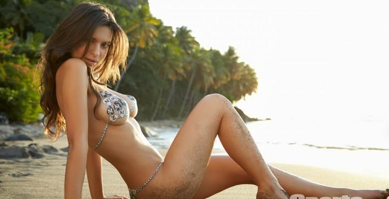Emily Ratajkowski-Sports Illustrated 2014 Body Paint 17